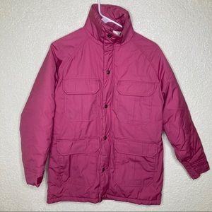 Woolrich Mulberry Winter Coat Size S No Hood